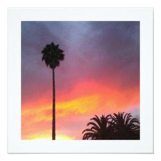 Sunset California 13 Cm X 13 Cm Square Invitation Card