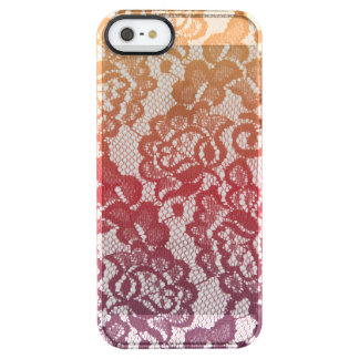 Sunset Gradient Lace Clear iPhone SE/5/5s Case
