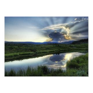 Sunset Mushroom Cloud 13 Cm X 18 Cm Invitation Card