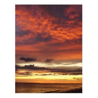 Sunset on Fort Myers Beach Postcard