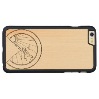 Sunset over mountains carved® maple iPhone 6 plus case