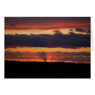 Sunset photograph note card