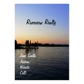 Sunset/Riverview-Real Estate Company Pack Of Chubby Business Cards