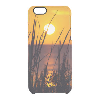 Sunset with Grasses Silhouetted Clear iPhone 6/6S Case