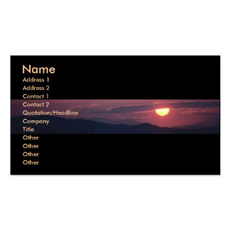 Sunshine Profile Card Pack Of Standard Business Cards