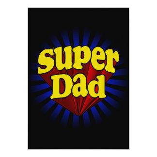 Super Dad, Superhero Red/Yellow/Blue 13 Cm X 18 Cm Invitation Card