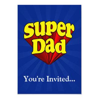 Super Dad, Superhero Red/Yellow/Blue Father's Day 13 Cm X 18 Cm Invitation Card