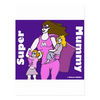 Super Mummy Postcard