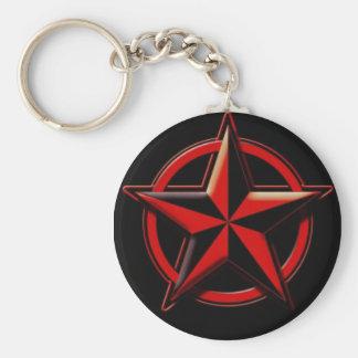 Super Star Basic Round Button Key Ring