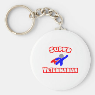 Super Veterinarian Basic Round Button Key Ring