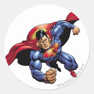Superman 31 round sticker