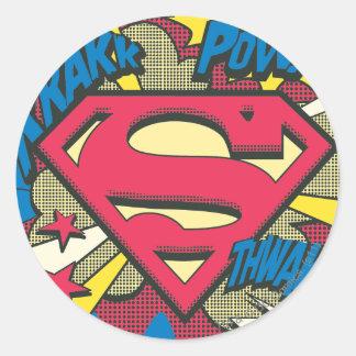 Superman 66 round sticker