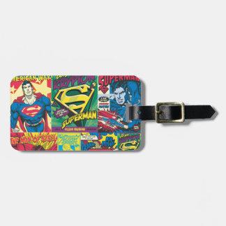 Superman Comic Strip Bag Tags