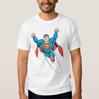Superman Flies Forward Tees