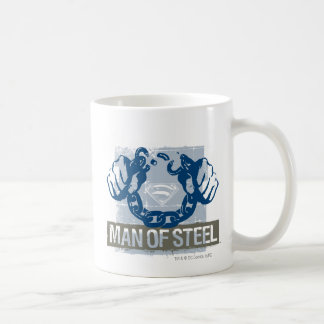 Superman Man of Steel Basic White Mug