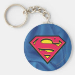 Superman S-Shield   Classic Logo Basic Round Button Key Ring