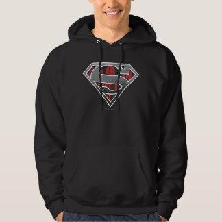 Superman S-Shield | Grey and Red City Logo Sweatshirts