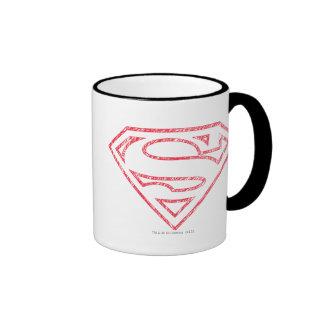 Superman S-Shield | Red Outline Logo Ringer Mug