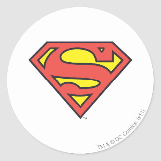 Superman S-Shield | Superman Logo Round Sticker