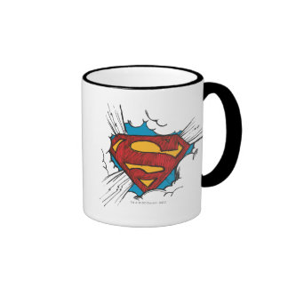 Superman S-Shield | Within Clouds Logo Ringer Mug