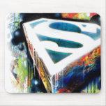 Superman Stylised   Urban Graffiti Logo Mouse Pad