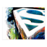 Superman Stylised   Urban Graffiti Logo Postcard