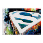 Superman Stylised   Urban Graffiti Logo Poster