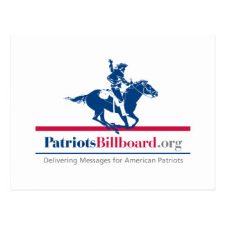 Support American Values With Patriotsbillboard.org Postcard
