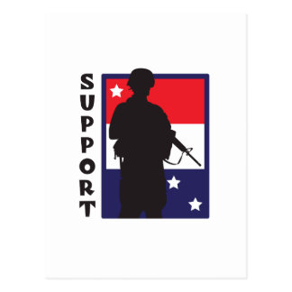 SUPPORT TROOPS POSTCARD