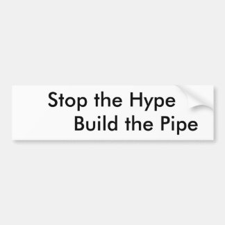 Supporting pipe building bumper sticker