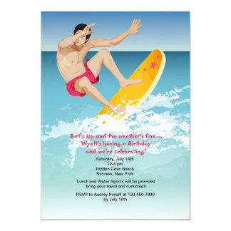 Surfer Male Invitation