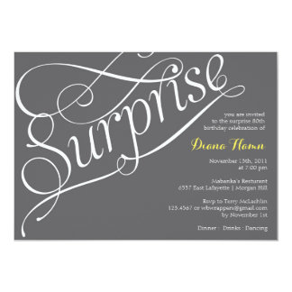"""SURPRISE"" Milestone Birthday or Event Invitation"