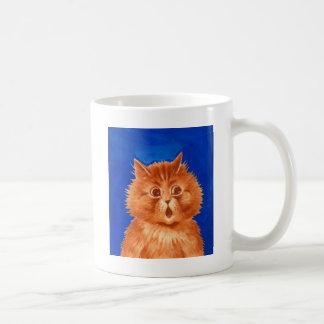 Surprised Orange Cat by Louis Wain Basic White Mug