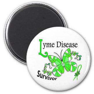 Survivor 6 Lyme Disease 6 Cm Round Magnet