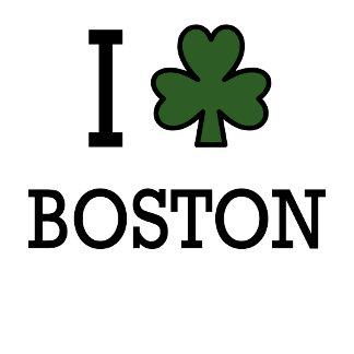 I Love Boston (green clover)