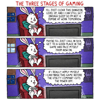 Chuck & Beans Three Stages of Gaming