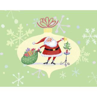cute santa in ornament