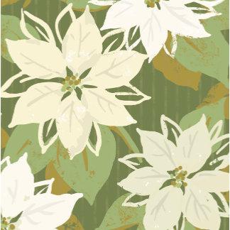 green and white poinsettias