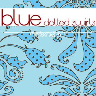 Blue Dotted Swirls