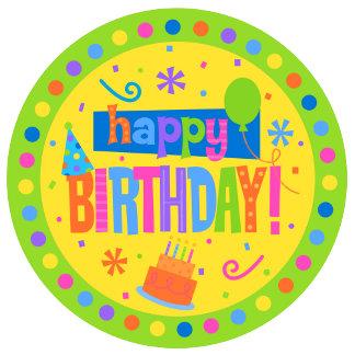 Round Happy Birthday