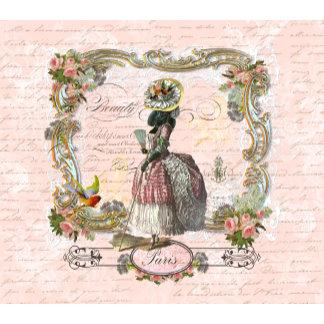 Black Poodle Marie Antoinette Costume & Pink Roses