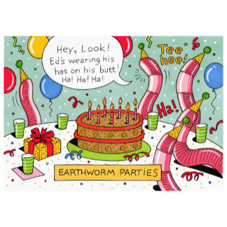 Birthday Earthworm Party