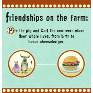 """Farm Friendship Poster Print"""