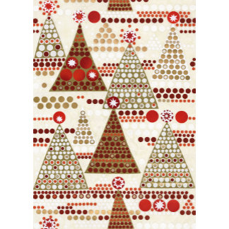 contemporary christmas trees pattern