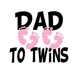 Footprints Dad to Twins (twin girls)