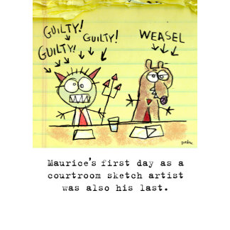 Shoebox Courtroom Artist