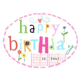 Happy Birthday Oval