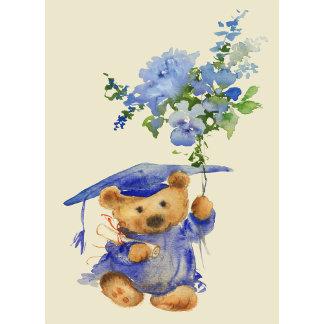 Watercolor Bear Graduate