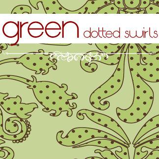 Green Dotted Swirls