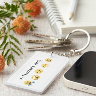 A Teacher's Week Keychain - Add name on back.